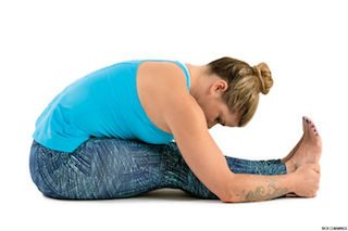 Yoga Posture of the Month – May  Paschimottanasana – forward bend from a seated position