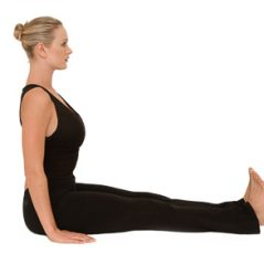 Yoga Posture for the Month – December – Dandasana with side stretch variation
