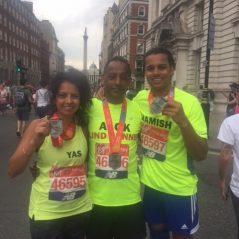 The Marathon Man made it!
