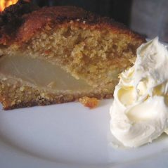 Nicky's Christmas Recipe – Pear and Almond Pudding Cake